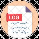 Log File Log Document Log Sheet Icon
