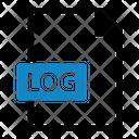 Log File Type Data Icon