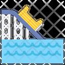 Log Flume Water Sport Coaster Slide Icon
