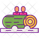 Log Flume Water Sport Coaster Slide Icon