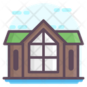 Log House Wooden House Log Home Icon