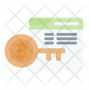 Log Key Cryptocurrency Bitcoin Icon