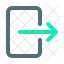 Exit Out Log Icon