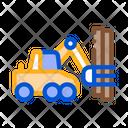 Logging Machine Industry Icon