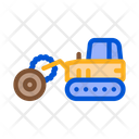 Logging Tractor Industry Icon