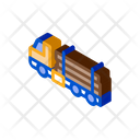 Logging Delivery Truck Icon