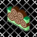 Tree Trunk Pile Icon