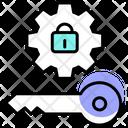 Login Key Lock Icon
