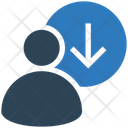 Business Financial Down Icon