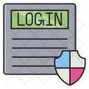 Login Secure Protection Icon