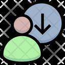 Login Down Download Icon