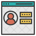 Login Wesite Server Icon
