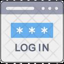 Login Password Web Login Account Login Icon