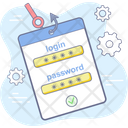 Password Cyber Security Icon