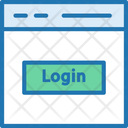Login Web Page Login Button Icon