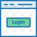 Login Web Page Icon