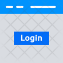 Login Web Page Login Button Icon
