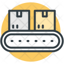 Logistic Package Conveyor Icon