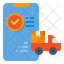 Logistic Order Smartphone Icon