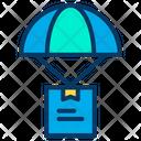 Air Deliverey Parachute Parcel Flying Parcel Icon