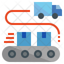 Loading Logistics Truck Icon