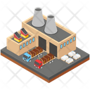 Logistic Industry Cargo Mill Warehouse Icon