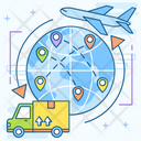 Logistic network Icon