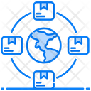 Logistic Network Global Network Shipment Network Icon