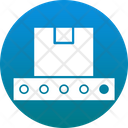 Logistic Package Conveyor Belt Shipping Box Icon