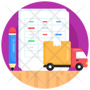 Logistic Document Logistic Report Logistic Record Icon