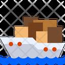 Logistic Ship Cargo Ship Cruise Ship Icon