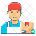 Delivery Staff Logistic Worker Industrial Worker Icon