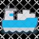 Logistics Transportation Ship Icon