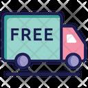 Logistics Delivery Van Courier Van Icon