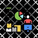 Logistics Analytics Report Analytics Infographic Icon