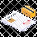 Logistics Deal Logistics Contract Logistics Agreement Icon