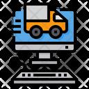 Logistics Computer Delivery Icon