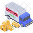 Logistics Delivery Van Icon