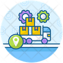 Logistics Management Delivery Van Parcel Delivery Icon
