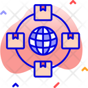 Logistics Network Global Network Logistics Icon