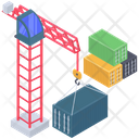 Logistics Tower Crane Icon