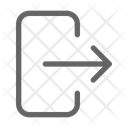 Logout Exit Sign Icon