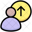Logout Up Upload Icon