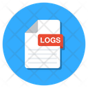 Logs File Logs Folder Logs Document Icon