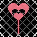 Lollipop Candy Valentines Icon