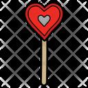 Heart Lolly Lolly Rainbow Lolly Icon