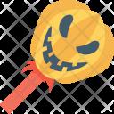 Lollipop Pumpkin Lolly Icon