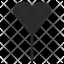 Lollipop Sweet Heart Icon