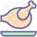 Roasted Chicken Chicken Meat Icon
