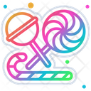 Lollipops Sweet Candy Icon